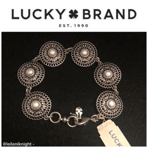 🆕 Lucky Brand Ethereal Coast Faux Pearl Bracelet
